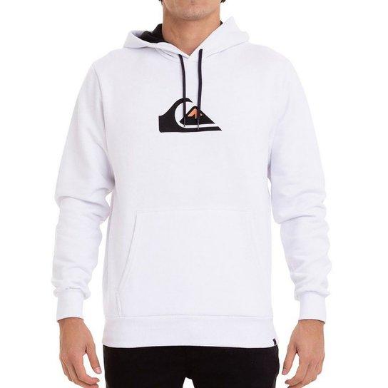 Moletom Quiksilver Basic Fech Logo Basic Masculino - Branco