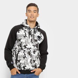 Moletom Red Bull Camuflado Skate Generation Masculino