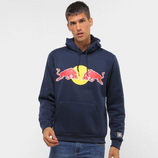 Moletom Red Bull Canguru Capuz Brasil RB Masculino - Marinho