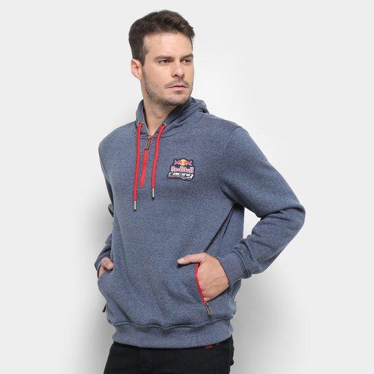 Moletom Red Bull Meio Ziper Mescla Racing Rbr Masculino - Marinho