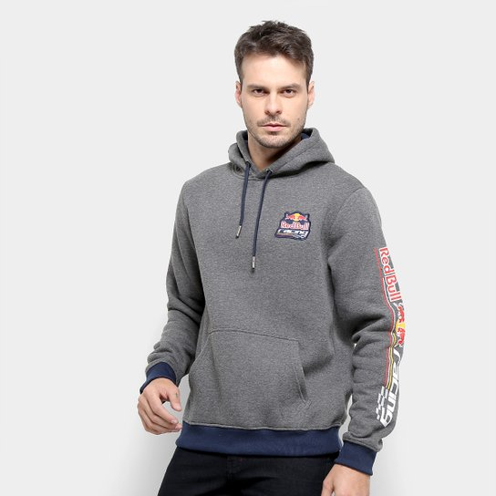 Moletom Red Bull Racing Rbr Masculino - Chumbo