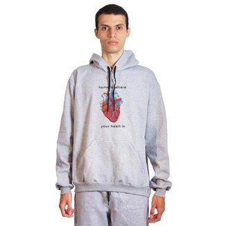 Moletom Sandro Clothing Heart Masculino