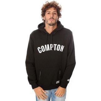Moletom Starter Compton Fechado Com Capuz Preto Masculino