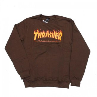 Moletom Thrasher Magazine Careca Classic Flame