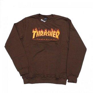 Moletom Thrasher Magazine Careca Classic Flame