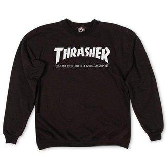 Moletom Thrasher Magazine Careca Skate Mag - Preto