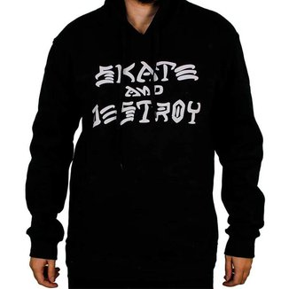 Moletom Thrasher Skate and Destroy Preto