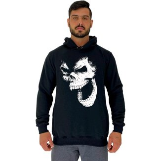 Moletom Tradicional Capuz MXD Conceito Gorilla Skull Masculino