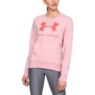 Moletom Treino Feminino Favorite Fleece Sportstyle Graphic Crew 12.1 Under Armour