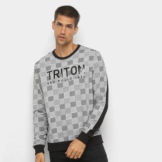 Moletom Triton Quadriculado Masculino