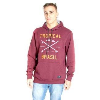 Moletom Tropical Brasil Logo Masculino