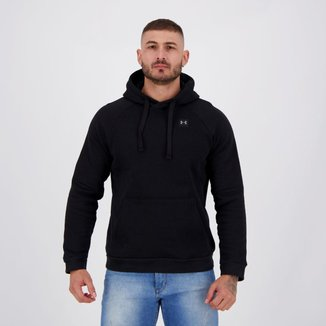 Moletom Under Armour Rival Fleece Hoodie Preto
