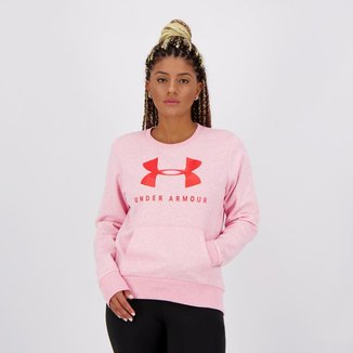 Moletom Under Armour Rival Fleece Sportstyle Feminino Rosa