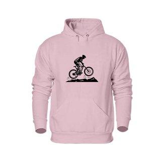 Moletom Unissex Estampa Bike Com Bolso E Capuz