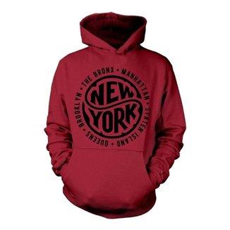 Moletom Unissex Estampa New York Com Punho E Capuz