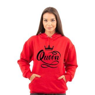 Moletom Unissex Estampa Queen Com Bolso