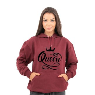 Moletom Unissex Estampa Queen Com Bolso