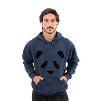 Moletom Unissex Fechado Estampa Panda Com Capuz e Bolso