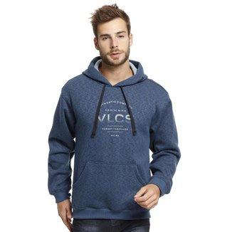 Moletom VLCS Capuz Fechado Masculino Azul
