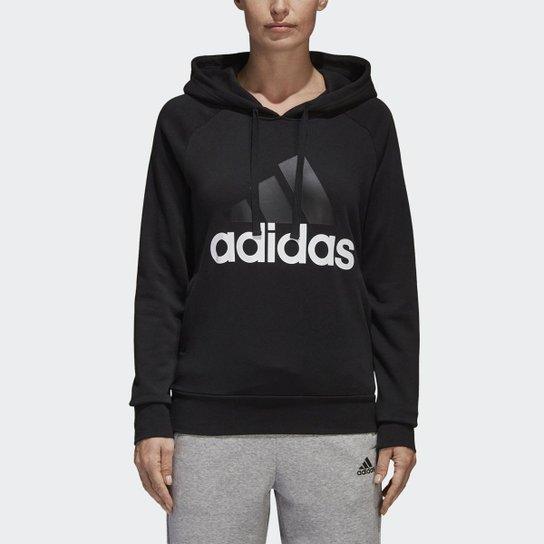 Moleton Capuz Essentials Linear  Adidas Masculino - Preto