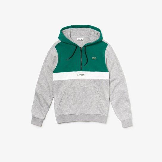 Moleton Lacoste Sport Masculino - Verde+Cinza