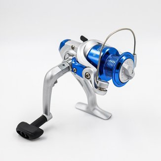 Molinete De Pesca Deyu Foison TR2000 Cor Prata Com Azul 1 Rolamento