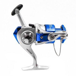 Molinete Deyu Foison TR4000 Prata Com Azul 1 Rolamento Drag De 3 Kg