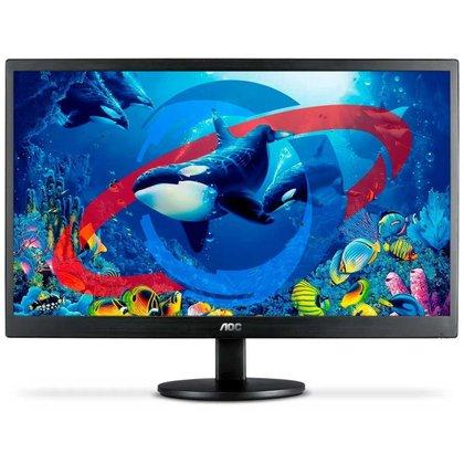 Monitor 21.5 AOC E2270SWHEN - Full HD - Suporte Vesa - HDMI/VGA