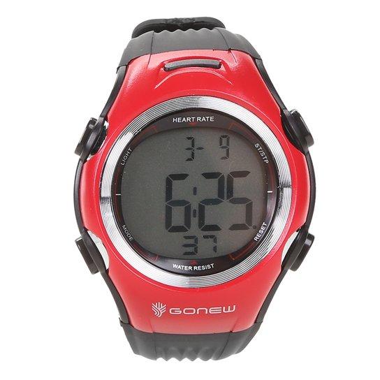 Monitor Cardíaco Gonew Speed - Preto+Vermelho