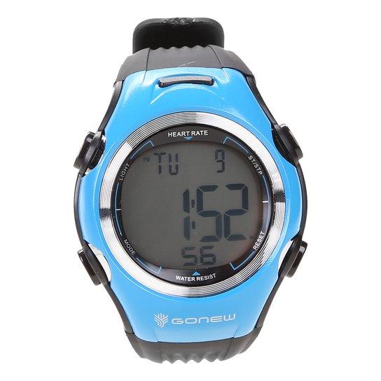 Monitor Cardíaco Gonew Speed - Preto+Azul