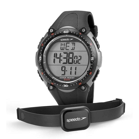 Monitor Cardíaco Speedo Jest 80565G0EPNP - Chumbo+Cinza