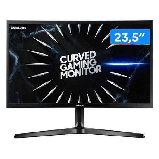 "Monitor Gamer Samsung LC24RG50FQLMZD 23,5"" LED - Curvo Widescreen Full HD HDMI 144Hz 4ms - Preto"
