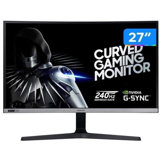"Monitor Gamer Samsung LC27RG50FQLXZD 27"" LED - Curvo Widescreen Full HD 4ms - Preto"
