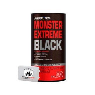 Monster Extreme Black 22 Packs + Porta Cápsulas - Probiótiótica
