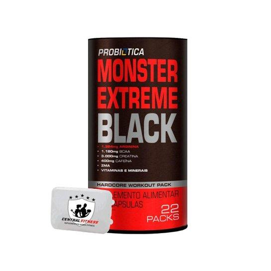 Monster Extreme Black 22 Packs + Porta Cápsulas - Probiótiótica -