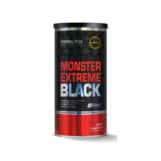 Monster Extreme Black Hipercalórico 44 Packs - Probiótica