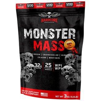 Monster Mass 3kg Morango - Hipercalórico - Hardcore Sports Nutrition