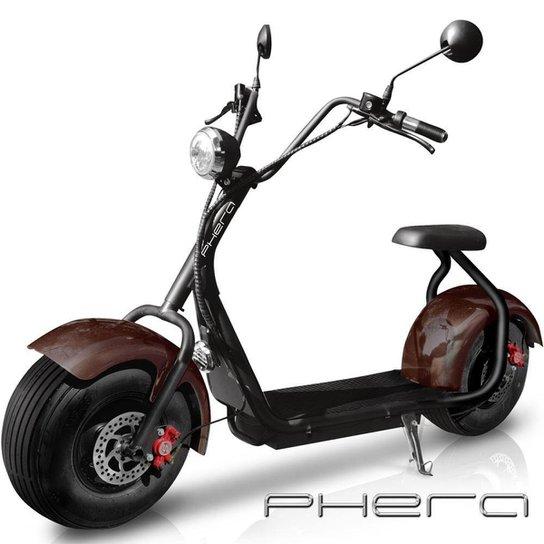 Moto Elétrica Scooter Phera F300 1500w 45kmh Max180kg - Preto