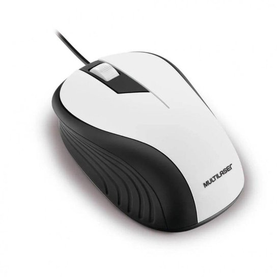Mouse Emborrachado Usb 1200Dpi Multilaser - Branco