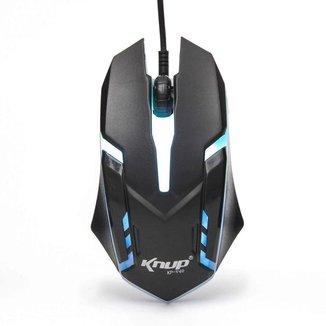 Mouse Gamer 1600dpi 3 Botões Knup Kp-v40