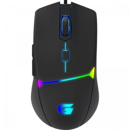 Mouse Gamer Crusader 7200DPI RGB - Fortrek - Preto