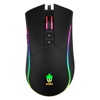 Mouse Gamer Evolut Programavel EG106/Skadi Preto