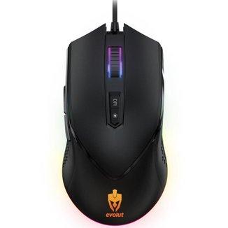 Mouse Gamer Evolut Programável EG107/Balder Preto