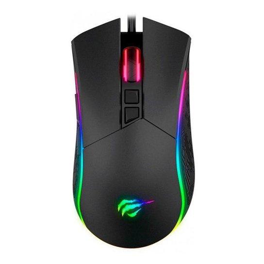 Mouse Gamer Havit MS1001 4800DPI  RGB HV-MS1001 - Preto