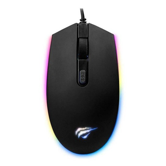 Mouse Gamer Havit RGB 2400DPI HV-MS1003 - Preto