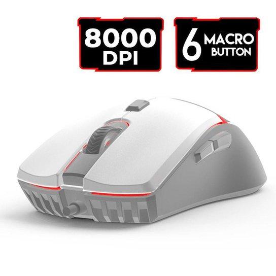 Mouse Gamer Jogo Macro Crypto VX7 Space Fantech 8000DPI - Branco
