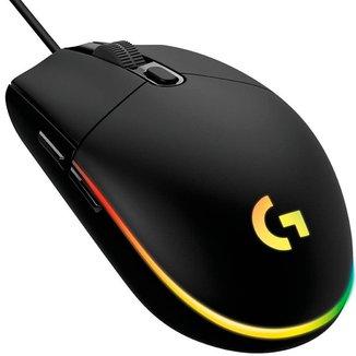 Mouse Gamer Logitech G203 RGB Lightsync - 8000dpi - 6 Botões - Preto - 910-005793