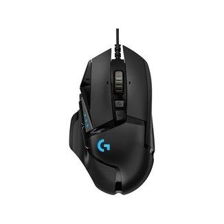 Mouse Gamer Logitech Óptico 16000dpi 11 Botões G502 HERO