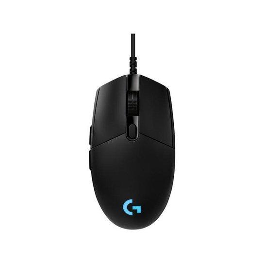 Mouse Gamer Logitech Óptico 16000dpi - Preto