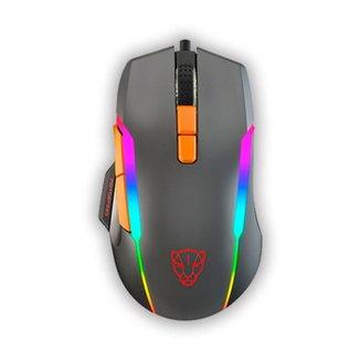 Mouse Gamer Motospeed V90 Cinza 12000Dpi RGB